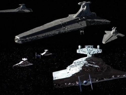 28 - Destructores y cazas imperiales
