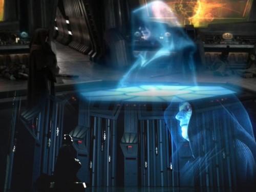 23 - Conversación holográfica entre Sidious y Vader