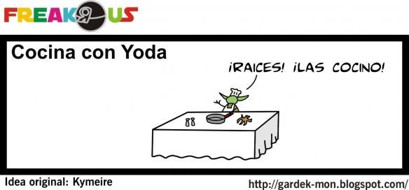Cocina con Yoda
