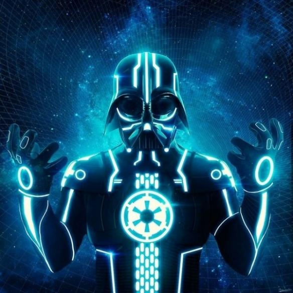 Darth Vader troneado