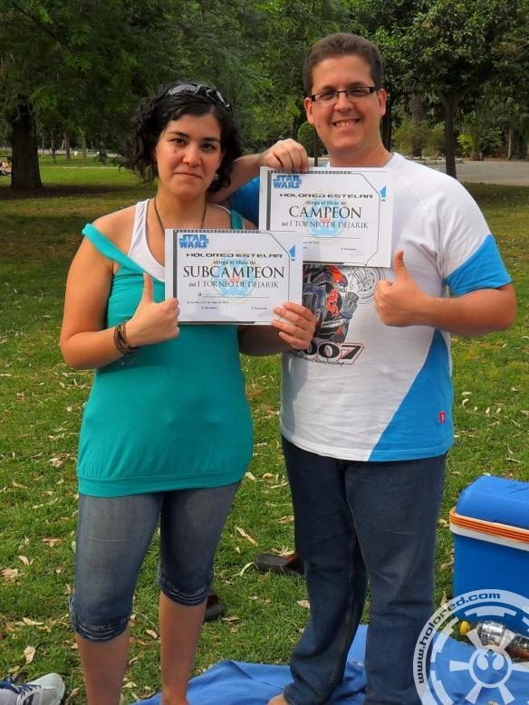 Campeones del I Torneo de Dejarik de HoloRed Estelar